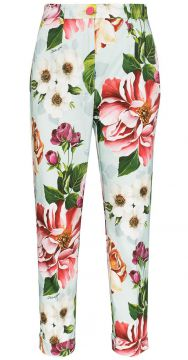 Cropped Floral-print Trousers - Dolce & Gabbana