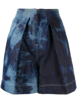 Tie Dye Front Pleated Short - Gina