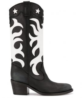 Knee-length Western Style Boots - Via Roma 15