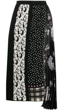 Mixed Pattern Mid-length Skirt - Antonio Marras