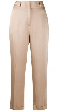 Satin Cropped Trousers - Antonelli