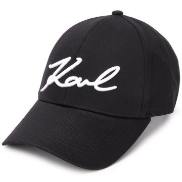 Logo Embroidered Panelled Cap - Karl Lagerfeld