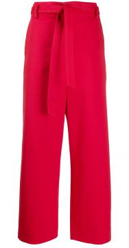 High-waisted Belted Trousers - Barena