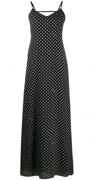 Polka Dot Long Dress - Boutique Moschino