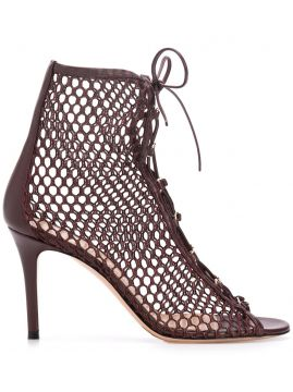 Helena 90mm Fishnet Sandals - Gianvito Rossi