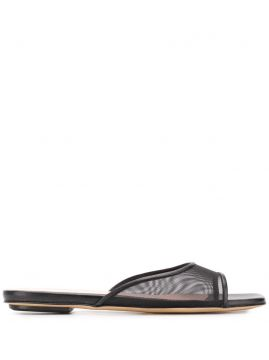 Lily Mesh-strap Flat Sandals - Gia Couture