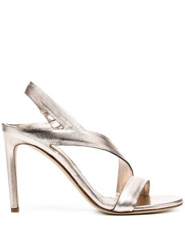 Mirror Metallic Sandals - Del Carlo