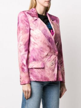 Tie-dye Double-breasted Blazer - Moschino