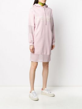 Printed Logo Hooded Sweatshirt Dress - Kenzo