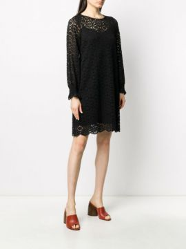 Floral Embroidered Layered Shift Dress - See By Chloé