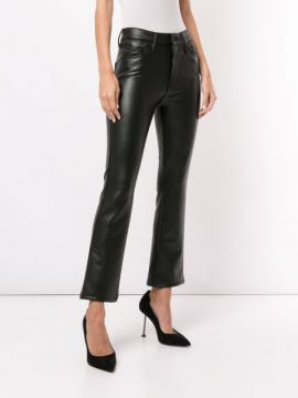 The Insider Ankle Faux-leather Trousers - Mother