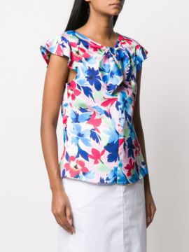 Blusa Com Estampa Floral - Boutique Moschino