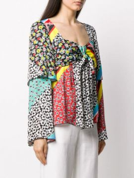 Patch-work Flared Blouse - Be Blumarine