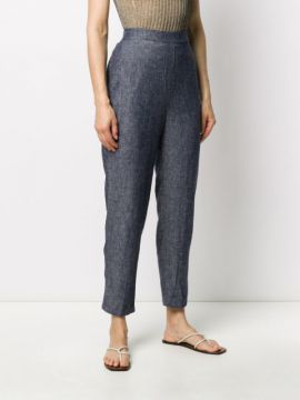 Chambray Tapered Trousers - Alessia Santi