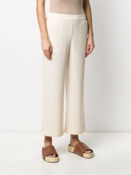 Cropped Straight Leg Trousers - Alessia Santi