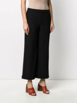 Cropped Patch Pocket Trousers - Alessia Santi