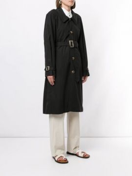 Single Breasted Trench Coat - Bassike