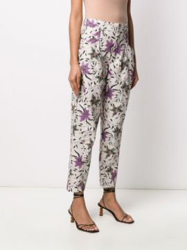 Floral Print Tapered Trousers - Isabel Marant