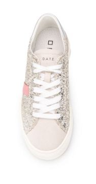 Round Toe Glitter-detail Sneakers - D.a.t.e.