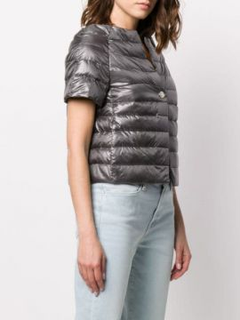Feather Down Cropped Puffer Jacket - Herno