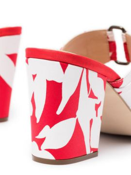 Floral 70mm Pleated Mules - Rosie Assoulin