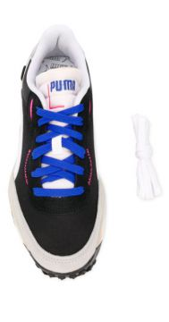 Contrast Panel Logo Embroidered Sneakers - Puma