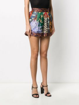 Floral-print High-waisted Short - Dsquared2