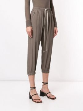 Cropped Track Pants - Rick Owens