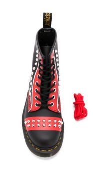 Stud-embellished Lace-up Ankle Boots - Dr. Martens