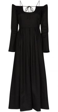 Vestido Longo Ombro A Ombro Pastoral - By Any Other Name