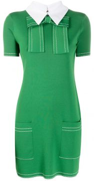 Collared Knit Dress - Elisabetta Franchi