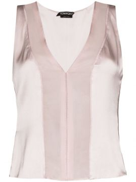 Sheer Panel Tank Top - Tom Ford