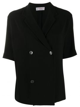 Fitted Double-breasted Blazer - Alberto Biani