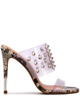 Snakeskin Effect Studded Sandals - Carvela