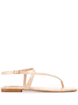 Crocodile-effect Flat Sandals - Carvela