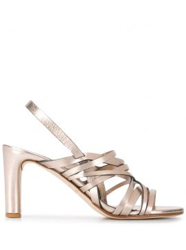 Metallic Strap Sandals - Del Carlo