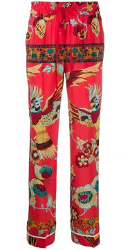 Floral & Butterfly Print Trousers - Redvalentino