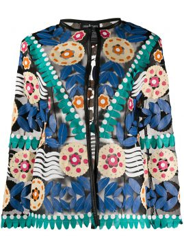 Graphic Print Jacket - Caban Romantic
