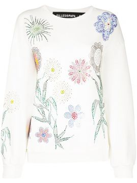 Georgia Crystal-embellished Cotton Sweatshirt - Filles A Pap