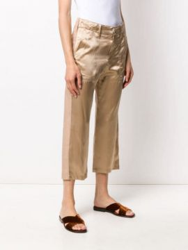 Two-tone Panelled Trousers - Jejia