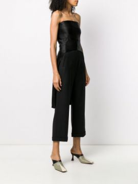 Fitted Curved Hem Bustier Top - Ann Demeulemeester