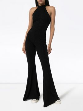 Dani Flared Glitter-effect Jumpsuit - Fantabody