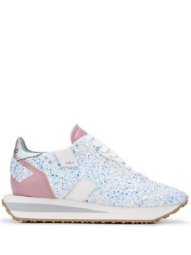 Wedge Sole Glitter Sneakers - Ghoud