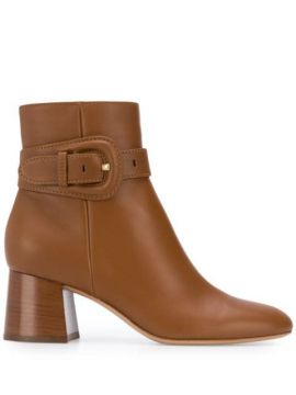 Buckled Strap Ankle Boots - Gianvito Rossi