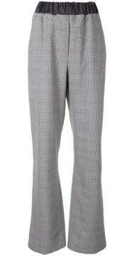 Checked Print Trousers - 0711