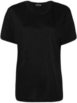 Camiseta Mangas Curtas Com Patch De Logo - Tom Ford