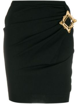 Gold Frame Fitted Mini Skirt - Moschino