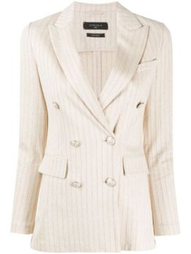Striped Double-breasted Blazer - Circolo 1901