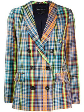 Double Breasted Checked Blazer - Department 5