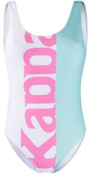 Colour Block Logo Print Swimsuit - Kappa